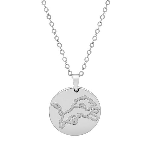 Detroit Lions Sterling Silver Reversible Pendant Necklace