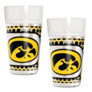 Iowa Hawkeyes 2-Piece Pint Glass Set