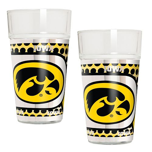Iowa Hawkeyes 2-Piece Pint Glass Set