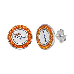 Denver Broncos Crystal Team Logo Stud Earrings