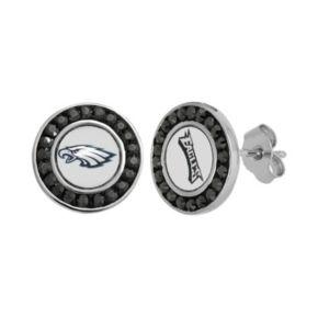 Philadelphia Eagles Crystal Team Logo Stud Earrings