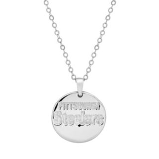 Pittsburgh Steelers Sterling Silver Reversible Pendant Necklace