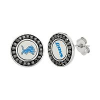 Detroit Lions Crystal Team Logo Stud Earrings