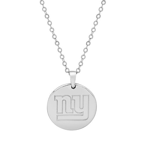 New York Giants Sterling Silver Reversible Pendant Necklace