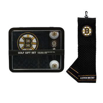 Team Golf Boston Bruins 4-Piece Towel, Golf Ball & Divot Tool Set