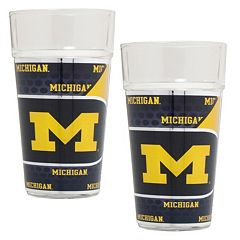 Michigan Wolverines 2-Piece Pint Glass Set
