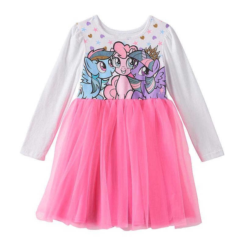 My Little Pony Rainbow Dash, Pinkie Pie & Twilight Sparkle Tulle Dress - Girls 4-6x
