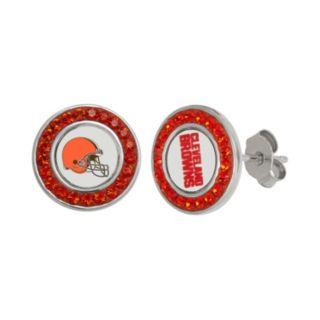 Cleveland Browns Crystal Team Logo Stud Earrings