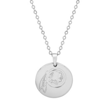 Washington Redskins Sterling Silver Reversible Pendant Necklace