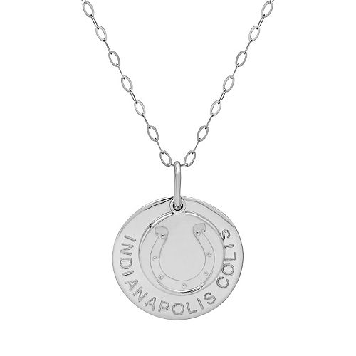 Indianapolis Colts Sterling Silver Team Logo Pendant Necklace