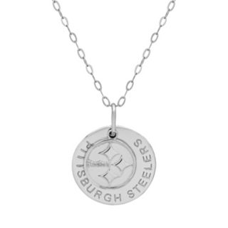 Pittsburgh Steelers Sterling Silver Team Logo Pendant Necklace
