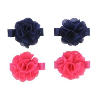 Girls Carter's 4-pk. Chiffon Flower Hair Clips