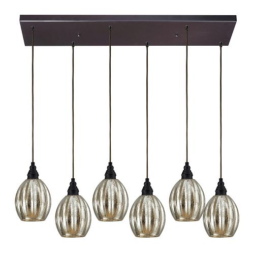 Elk Lighting Danica 6 Light Horizontal Pendant