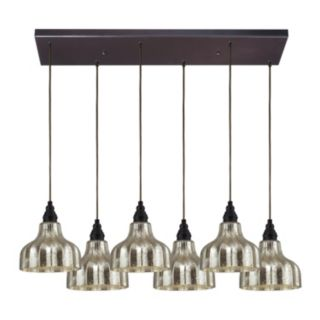 Elk Lighting Danica 6-light Bronze Scallop Pendant
