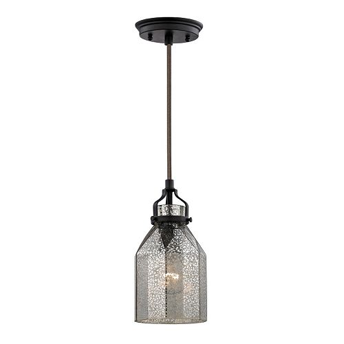 Elk Lighting Danica 1-Light Mercury Glass Pendant