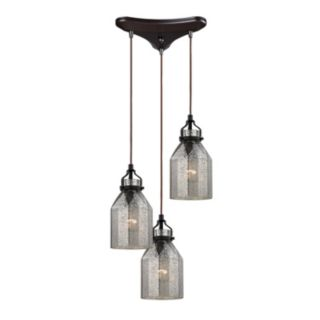 Elk Lighting Danica 3-Light Bronze Pendant