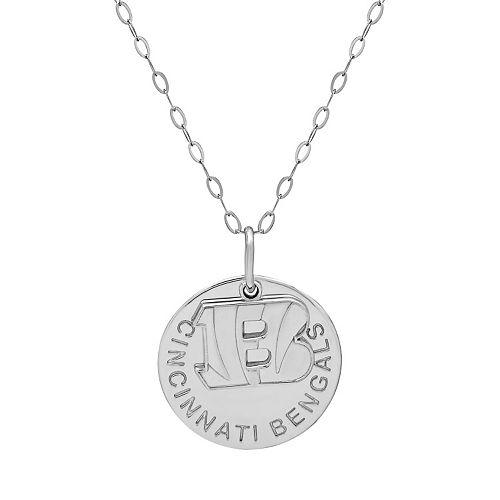 Cincinnati Bengals Sterling Silver Team Logo Pendant Necklace