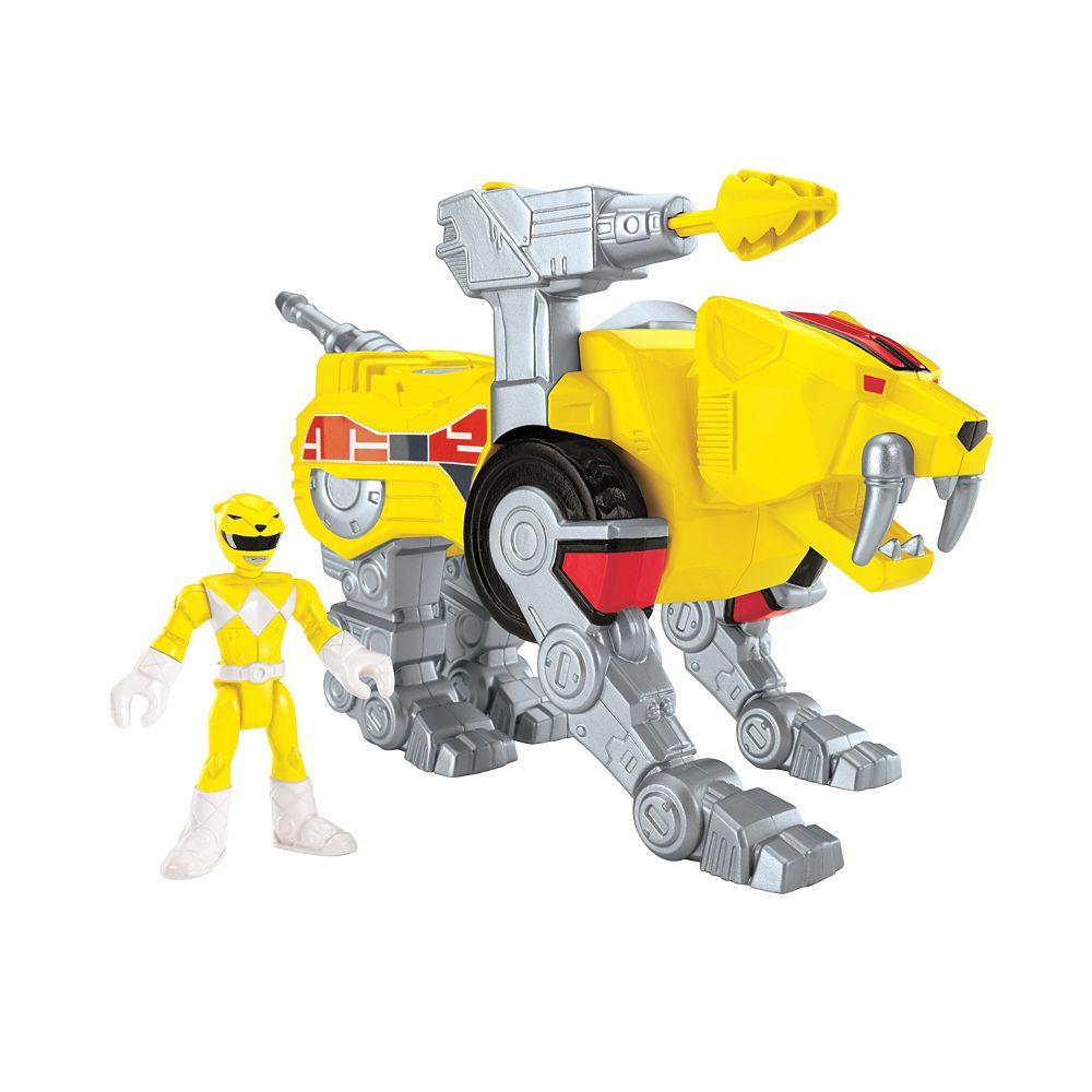 Price Imaginext Power Rangers Yellow Ranger & Sabertooth Zord