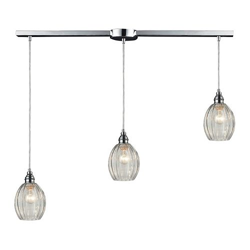 Elk Lighting Danica Clear Staggered 3-Light Pendant