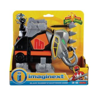 Fisher-Price Imaginext Power Rangers Black Ranger & Mastadon