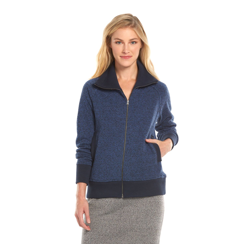 Womens Woolrich Marled Fleece Jacket