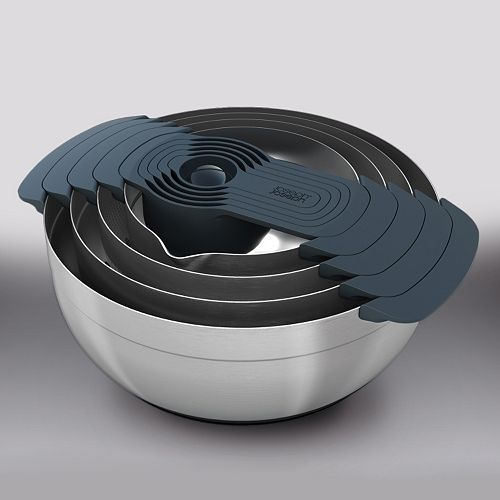 Joseph Joseph 100 Series Nest Plus 9-pc. Stainless Steel Mixing Bowl Set