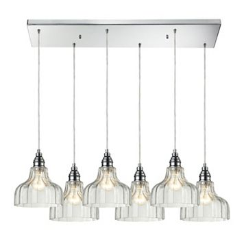 Elk Lighting Danica Scalloped Glass 6-Light Pendant