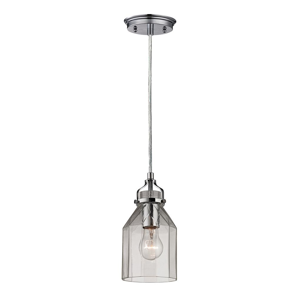 Elk Lighting Danica Polished Chrome 1-Light Pendant
