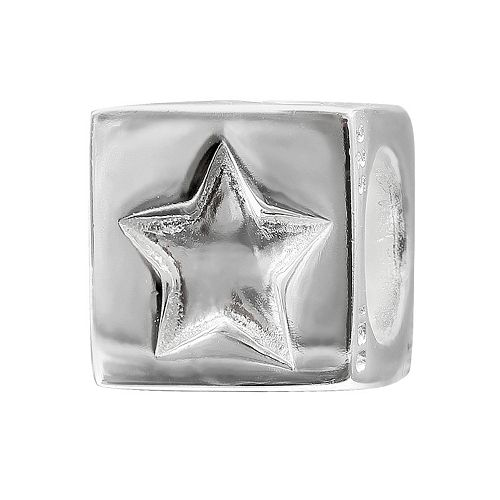 Individuality Beads Sterling Silver Star & Moon Cube Bead