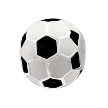 Individuality Beads Sterling Silver Soccer Ball Bead