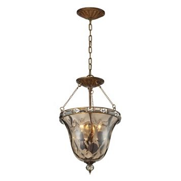 Elk Lighting Cheltham 3-Light Glass Pendant