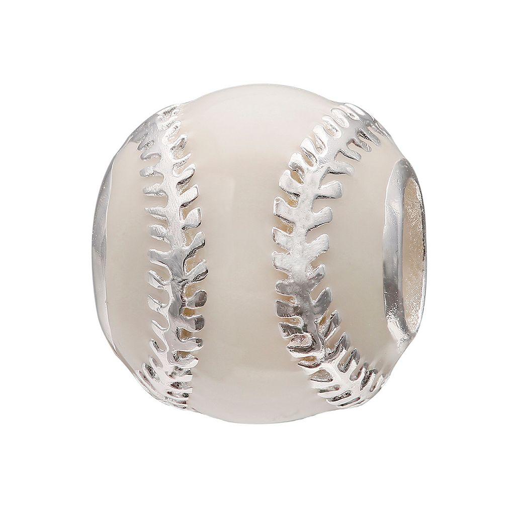 Individuality Beads Sterling Silver Baseball Bead