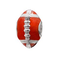 Individuality Beads Sterling Silver Football Bead