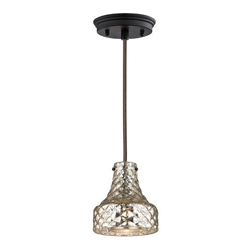Elk Lighting Cheltham 1-Light Mercury Glass Pendant