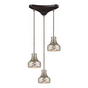 Elk Lighting Danica 3-Light Mercury Glass Pendant