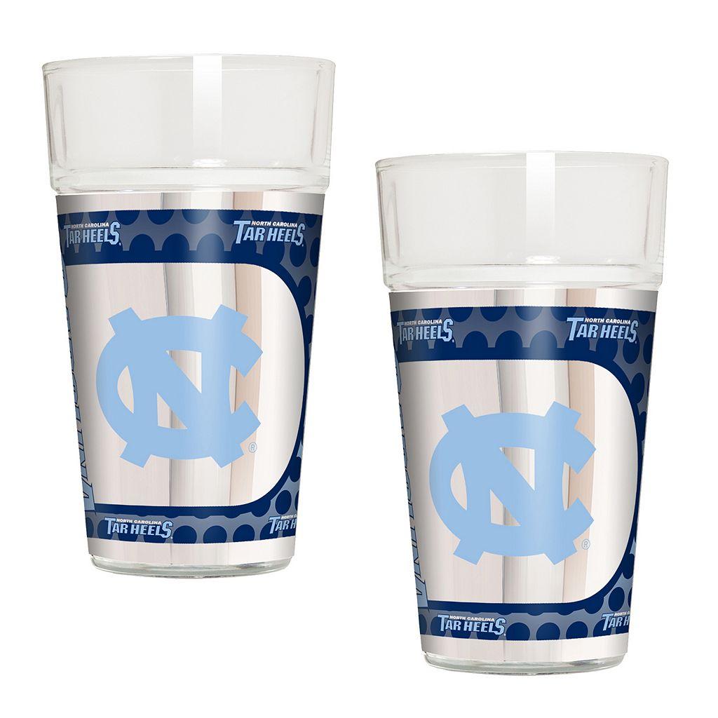 North Carolina Tar Heels 2-Piece Pint Glass Set