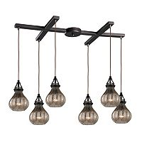 Elk Lighting Danica 6-Light Mercury Glass Pendant