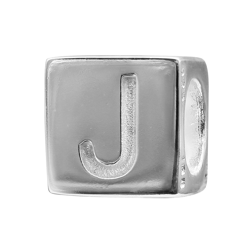 Individuality Beads Sterling Silver Initial Cube Bead