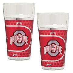 Ohio State Buckeyes 2 pc Pint Glass Set