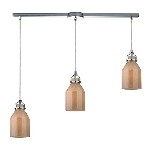 Elk Lighting Danica 3-Light Glass Pendant