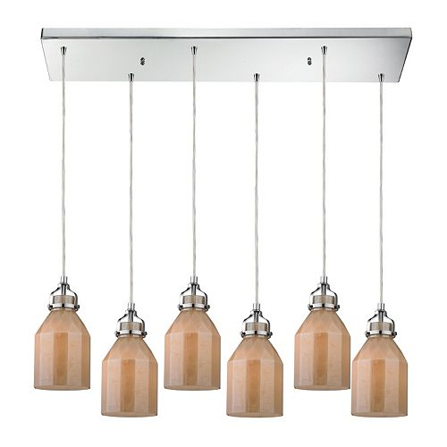 Elk Lighting Danica 6-Light Glass Pendant