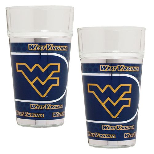 West Virginia Mountaineers 2-Piece Pint Glass Set