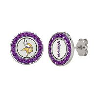 Minnesota Vikings Crystal Team Logo Stud Earrings