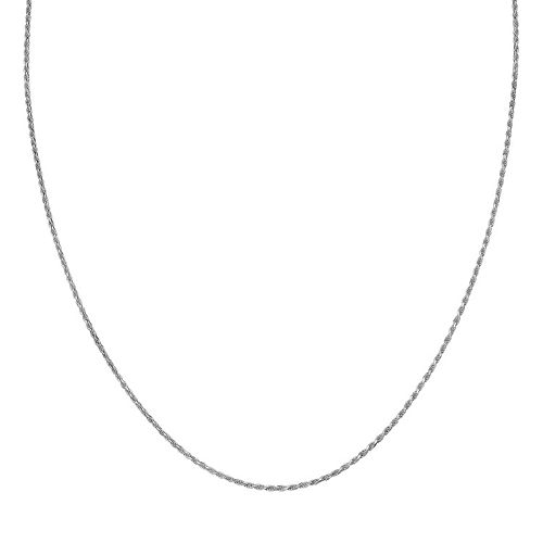 Sterling Silver Rope Chain Necklace - 36 in.