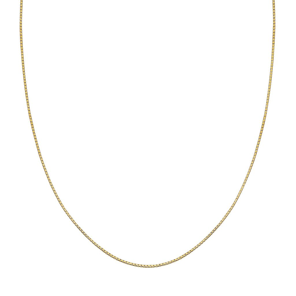 14k Gold Over Silver Box Chain Necklace - 18 in.