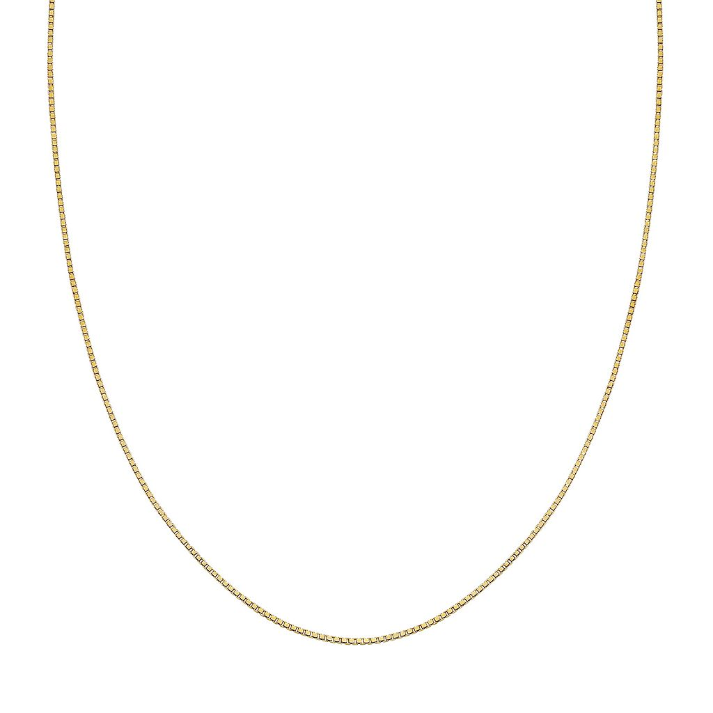 14k Gold Over Silver Box Chain Necklace - 20 in.