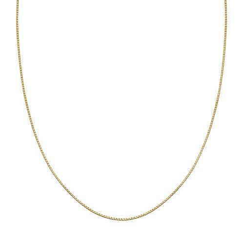 PRIMROSE 14k Gold Over Silver Box Chain Necklace - 30 in.