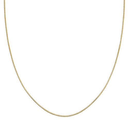 PRIMROSE 14k Gold Over Silver Box Chain Necklace - 18 in.