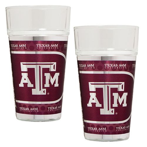 Texas A&M Aggies 2-Piece Pint Glass Set