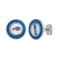 Buffalo Bills Crystal Team Logo Stud Earrings